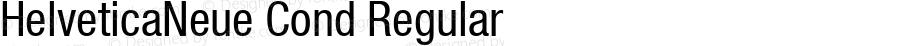 HelveticaNeue Cond Regular Macromedia Fontographer 4.1 4/17/2000