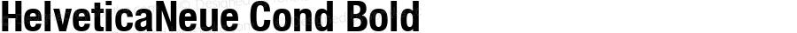 HelveticaNeue Cond Bold Macromedia Fontographer 4.1 4/17/2000