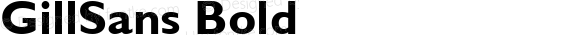 GillSans Bold Macromedia Fontographer 4.1 1/12/98