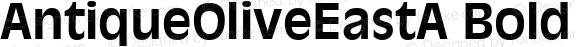 AntiqueOliveEastA Bold Version 1.00