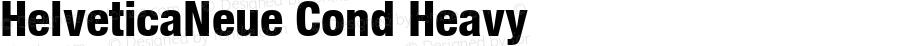 HelveticaNeue Cond Heavy Macromedia Fontographer 4.1 4/17/2000