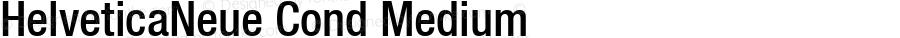 HelveticaNeue Cond Medium Macromedia Fontographer 4.1 4/17/2000