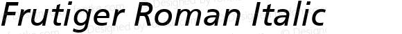 Frutiger 56 Italic