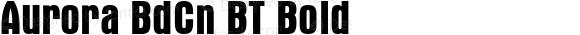 Aurora BdCn BT Bold 1.0 Mon Nov 06 14:56:34 1995