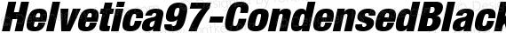 Helvetica97-CondensedBlack BlackItalic preview image