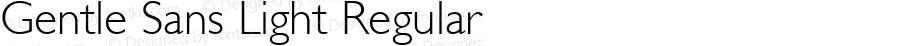 Gentle Sans Light Regular Altsys Fontographer 3.5  11/25/92