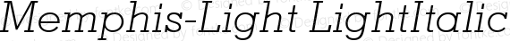 Memphis-Light LightItalic