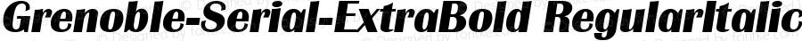 Grenoble-Serial-ExtraBold RegularItalic