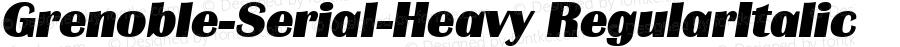 Grenoble-Serial-Heavy RegularItalic