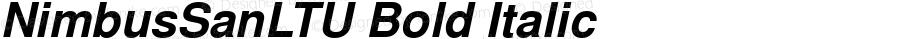 NimbusSanLTU Bold Italic Version 001.005