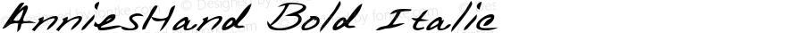 AnniesHand Bold Italic WSI: 1/10/98