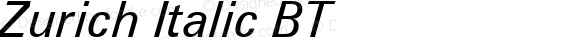 Zurich Italic BT mfgpctt-v1.52 Tuesday, January 12, 1993 4:17:15 pm (EST)