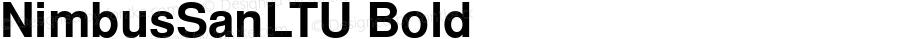 NimbusSanLTU Bold Version 001.005