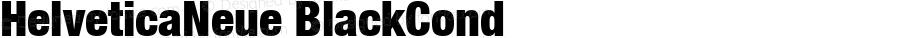 HelveticaNeue BlackCond Macromedia Fontographer 4.1 13/06/02
