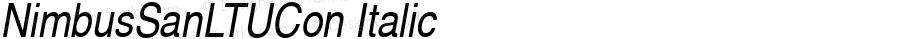 NimbusSanLTUCon Italic Version 001.005