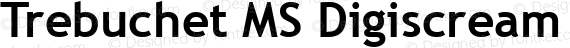 Trebuchet MS Digiscream Bold preview image