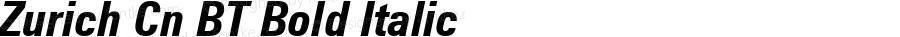 Zurich Cn BT Bold Italic mfgpctt-v1.56 Feb 17 1993