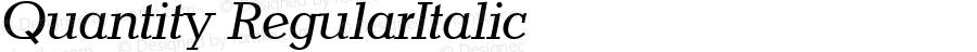 Quantity RegularItalic 1.0 Sat Nov 04 08:09:48 1995