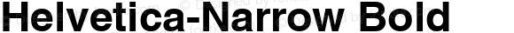 Helvetica-Narrow Bold