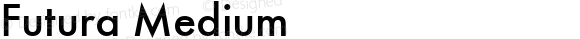 Futura Medium Version 1.10