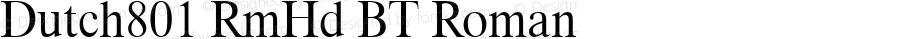 Dutch801 RmHd BT Roman mfgpctt-v1.52 Thursday, January 28, 1993 1:42:06 pm (EST)