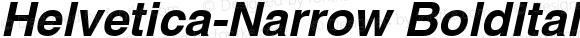 Helvetica-Narrow Bold Oblique