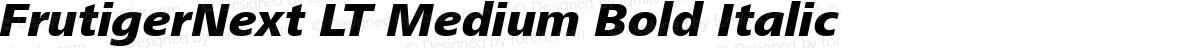 FrutigerNext LT Medium Bold Italic