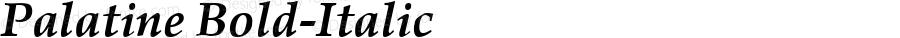 Palatine Bold-Italic 1.0 Tue Sep 20 15:12:09 1994