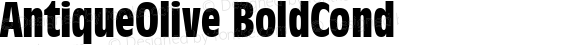 AntiqueOlive BoldCond