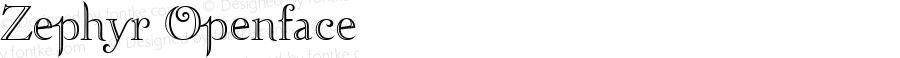 Zephyr Openface Macromedia Fontographer 4.1.3 10/29/01