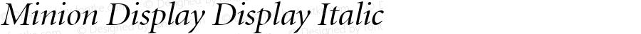 Minion Display Display Italic 001.000