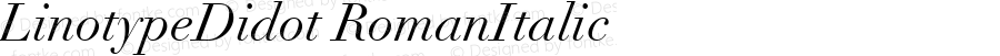 LinotypeDidot RomanItalic Version 1.00
