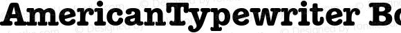 AmericanTypewriter BoldA Macromedia Fontographer 4.1 1/11/98
