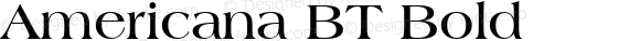 Americana BT Bold 1.0 Mon Nov 06 13:29:43 1995