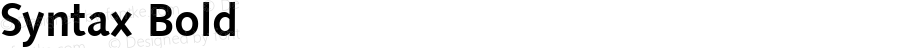 Syntax Bold Altsys Fontographer 3.5  6/28/93