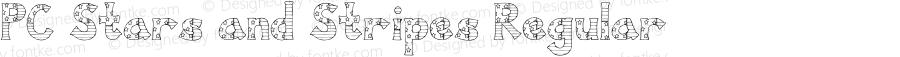 PC Stars and Stripes Regular Macromedia Fontographer 4.1 3/20/01