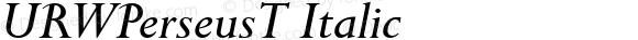 URWPerseusT Italic