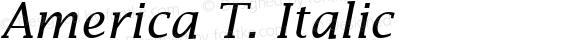 America T. Italic 1.0
