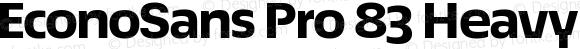 EconoSans Pro 83 Heavy Expanded