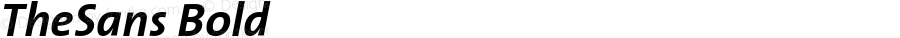 TheSans-Bold Italic