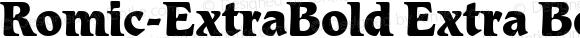 Romic-ExtraBold Extra Bold