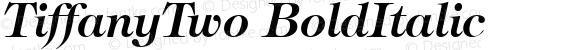 TiffanyTwo BoldItalic 1.0 Sat Nov 11 10:26:05 1995