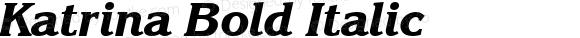 Katrina Bold Italic