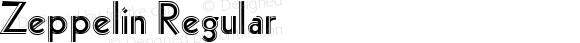 Zeppelin Regular Macromedia Fontographer 4.1.4 10/8/99