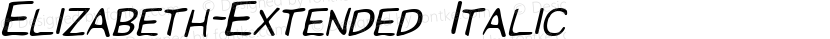 Elizabeth-Extended Italic Preview Image