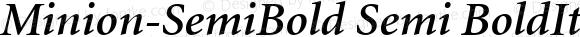Minion-SemiBold Semi BoldItalic