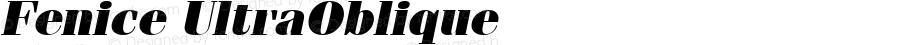 Fenice UltraOblique Macromedia Fontographer 4.1 1/12/98
