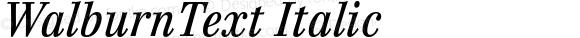 WalburnText Italic Version 2.02