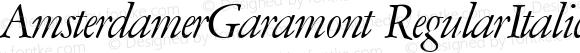 AmsterdamerGaramont RegularItalic 1.0 Mon Oct 30 13:30:55 1995