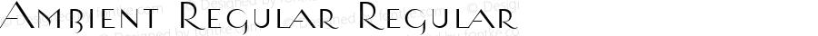 Ambient Regular Regular Macromedia Fontographer 4.1.4 12/19/01